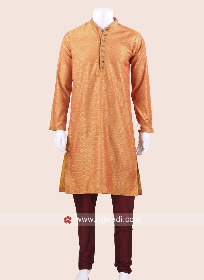 Attractive Orange Kurta Pajama