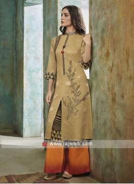 Attractive Palazzo Suit in Skin