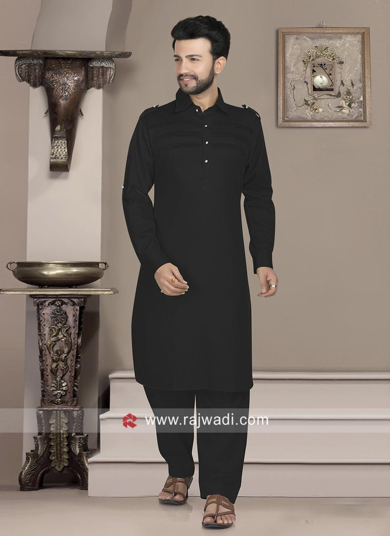 Attractive Pathani In Black