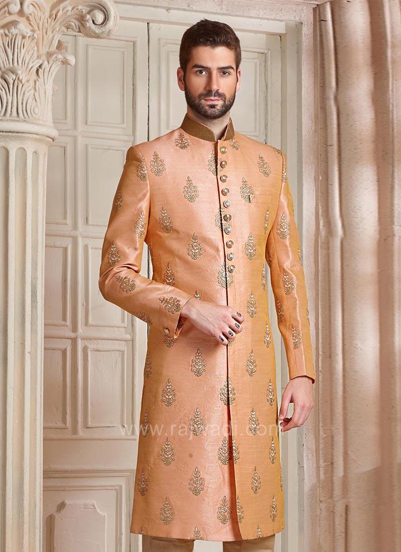 Attractive Peach Color Indo Western