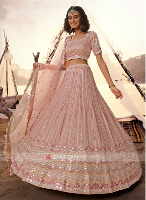 Attractive Peach Lehenga Choli