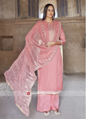 Attractive Peach Salwar Suit