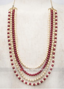 Attractive Pearl Mala For Groom
