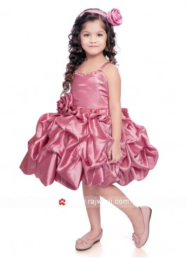 Attractive Pink Color Girls Gown