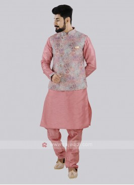 Attractive Pink Color Koti Set