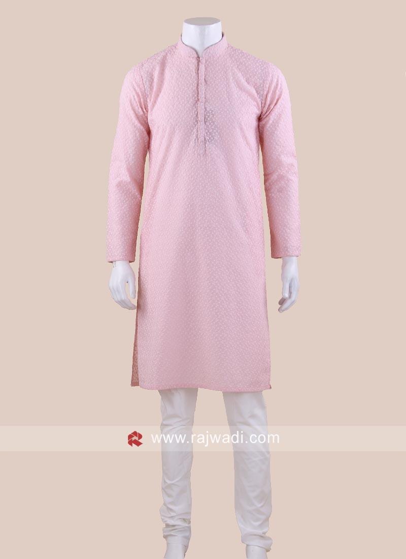 Attractive Pink Color Kurta Pajama