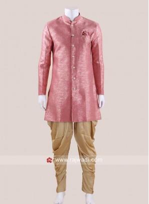 Attractive Pink Indo Western
