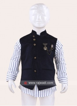 Attractive Navy Wedding Waist Coat