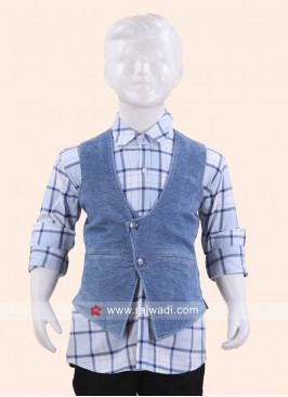 Attractive Sky Blue Wedding Waist Coat