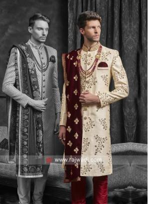 Elegant Cream Sherwani