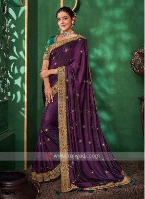 Attractive Purple Color Saree