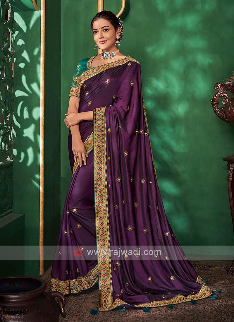 Attractive Purple Color Saree
