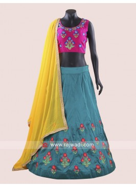Attractive Rani and Peacock Blue Chaniya Choli For Navratri