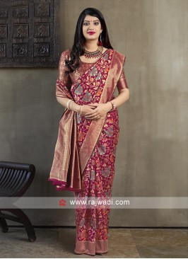 Attractive Rani Banarasi Silk Saree
