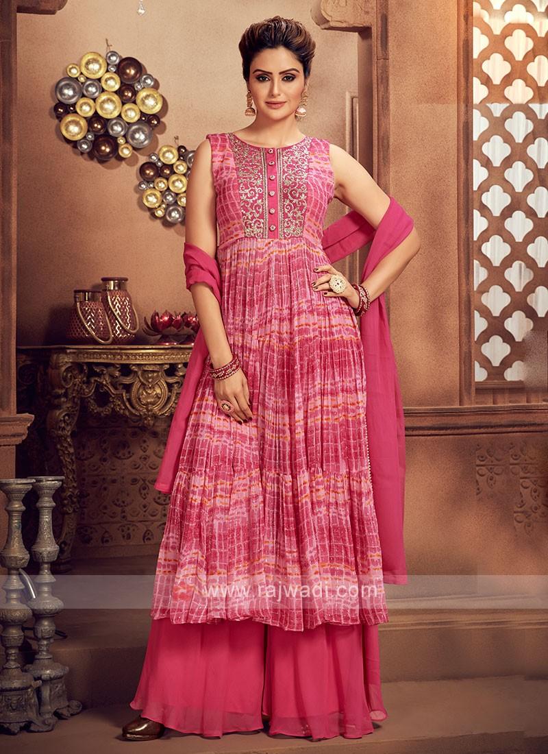 Attractive Rani Color Palazzo Suit