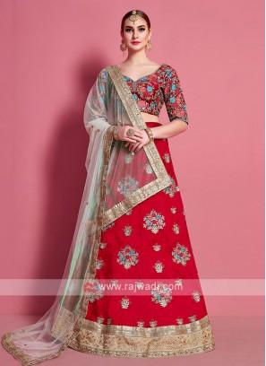 Attractive Red Color Lehenga Choli