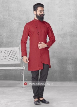 Attractive Maroon Color Pathani