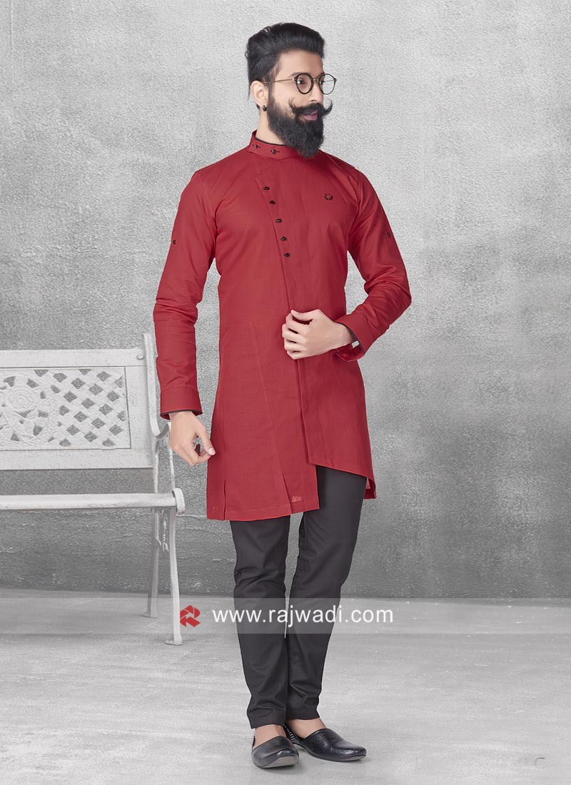 Attractive Maroon Color Pathani