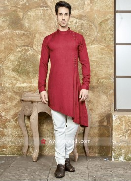 Attractive Red Color Pathani