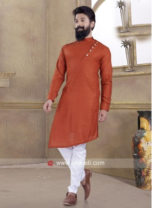 Attractive Orange Color Pathani Suit