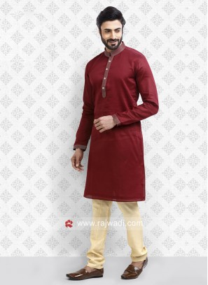 Attractive Red Kurta Pajama