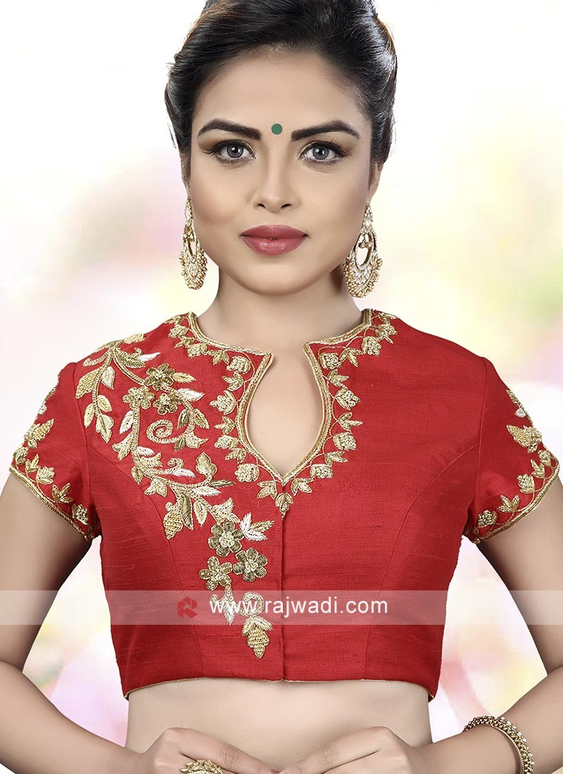 Attractive Red Ready Choli