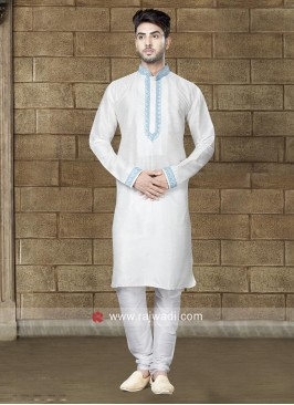Attractive Off White Kurta Set