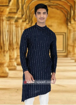 Attractive Blue Color Kurta