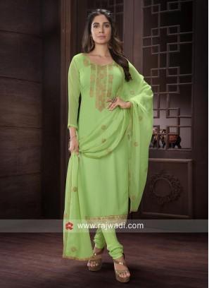 Attractive Resham Work Salwar Kameez