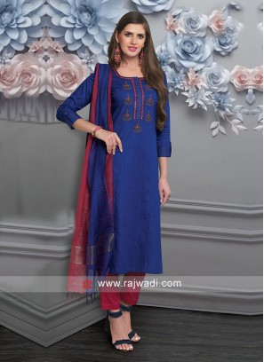 Attractive Resham Work Salwar Suit