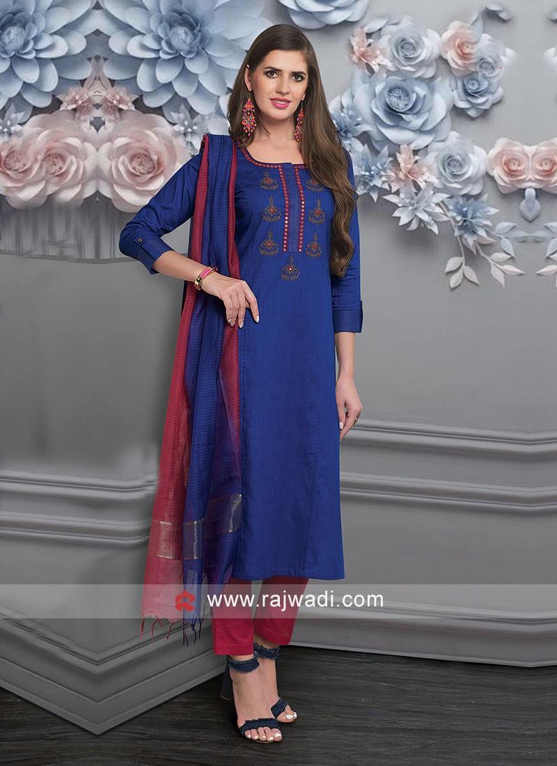 Attractive Resham Work Salwar Suit