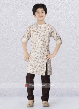 Attractive Round Neck Boys Kurta Set
