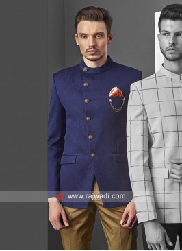 Attractive Round Neck Jodhpuri Set