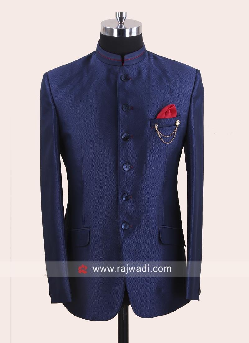 Attractive Royal Blue Color Jodhpuri Set