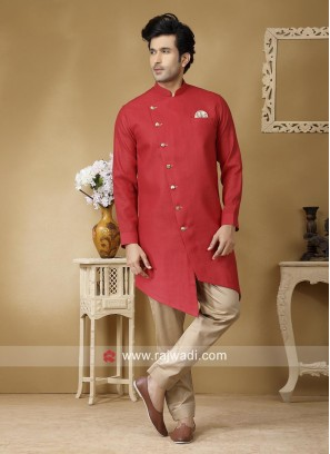 Attractive Rust Color Pathani Set
