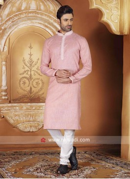 Attractive Salmon Color Kurta Pajama