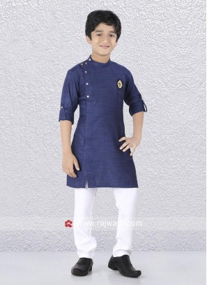Attractive Side Buttons Kurta With White Trouser