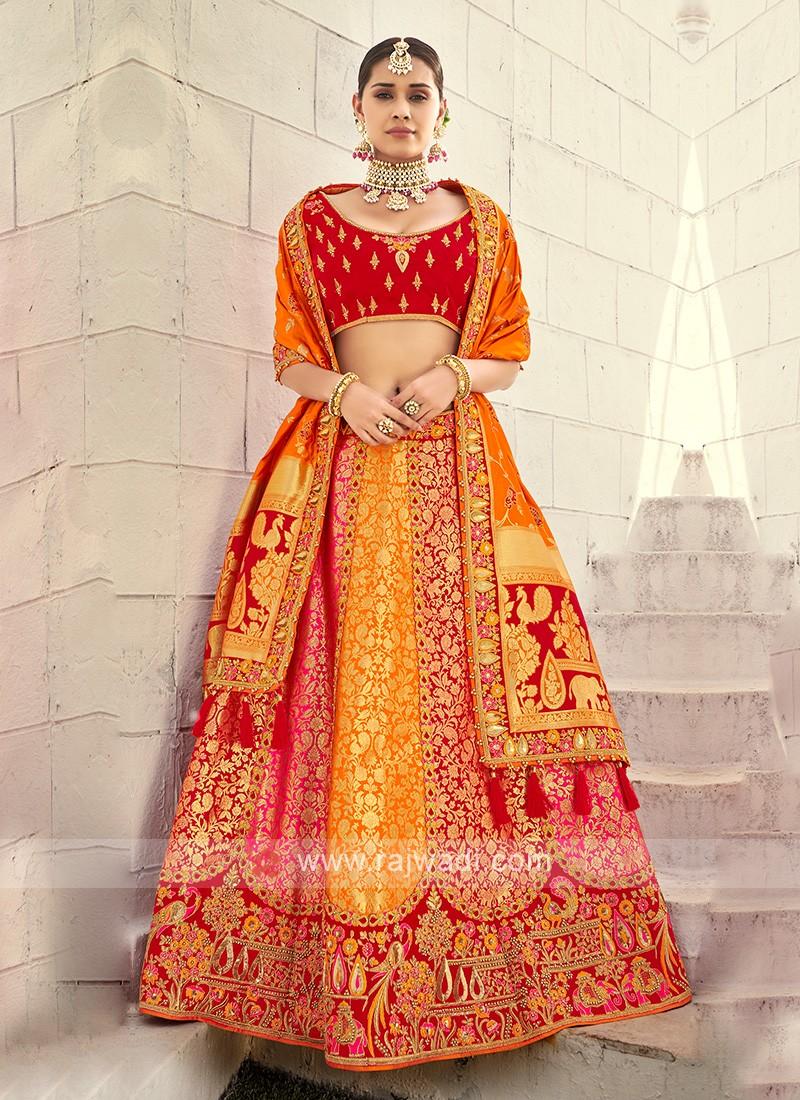 Attractive Silk Unstitched Lehenga Choli