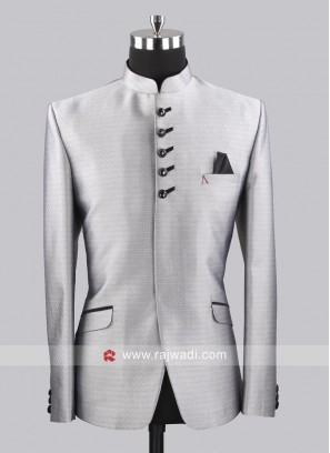 Attractive Silver Color Jodhpuri Set