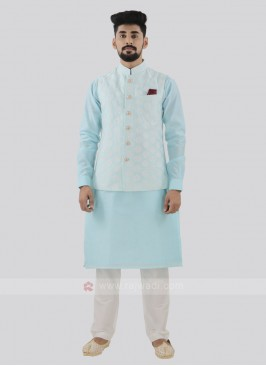 Attractive Sky Blue Color Koti Set