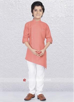 Attractive Peach Kurta Pajama