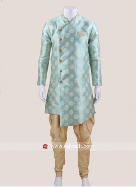 Attractive Turquoise Color Patiala Suit
