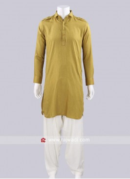 Attractive Voile Fabric Pathani Set