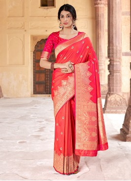 Attractive Weaving Banarasi Silk Traditional Saree