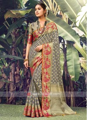 Attractive Weaving Work Saree