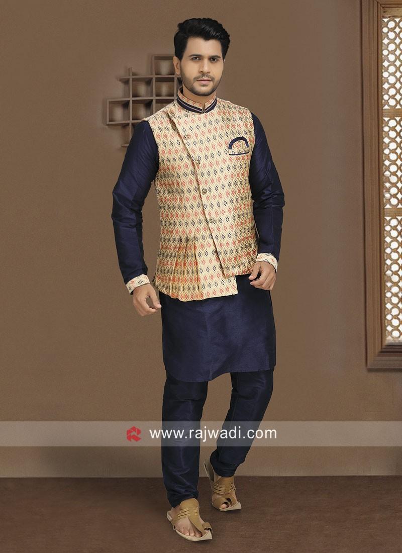 Attractive Wedding Wear Nehru Jacket