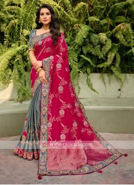 Attractive Wedding Wear Saree