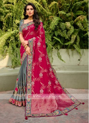 Attractive Wedding Wear Saree