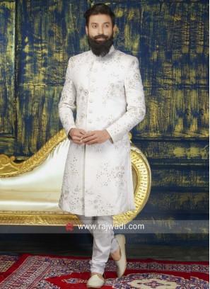 Attractive White Color Indo Western