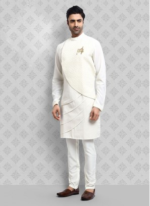 Attractive White Color Kurta Pajama